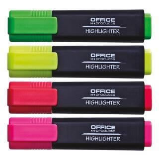 Zakreślacz fluorescencyjny OFFICE PRODUCTS 1-5mm (linia) 4szt. mix kolorów