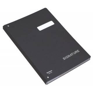 Teczka kartonowa do podpisu A4 DONAU 450g/m2 20-przegród czarna